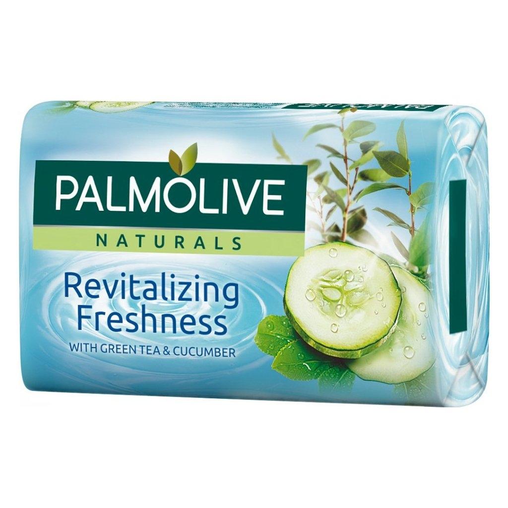 Palmolive Naturals Revitalizing Freshness Green tea & Cucumber, mýdlo s výtažkem ze zeleného čaje a okurek 90 g