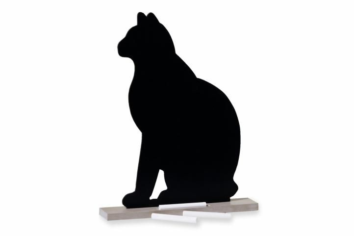 Upomínková tabule kočka + 6 kusů kříd