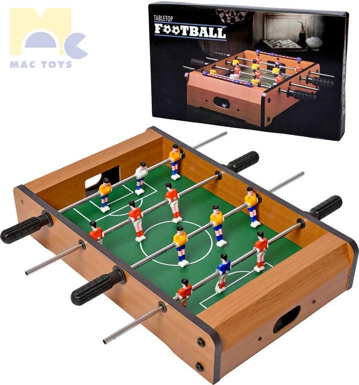 MAC TOYS DŘEVO Fotbal stolní kopaná *DŘEVĚNÉ HRAČKY*
