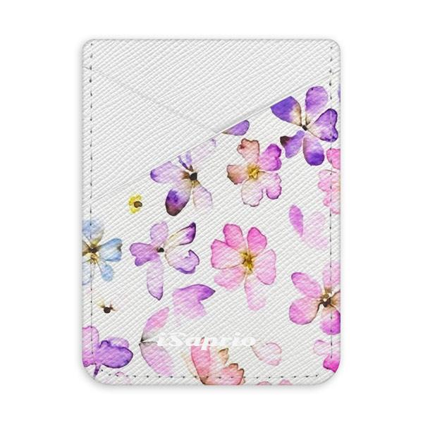 Pouzdro na kreditní karty iSaprio – Wildflower – světlá nalepovací kapsa
