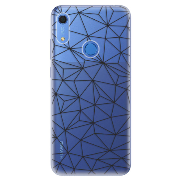 Odolné silikonové pouzdro iSaprio - Abstract Triangles 03 - black - Huawei Y6s