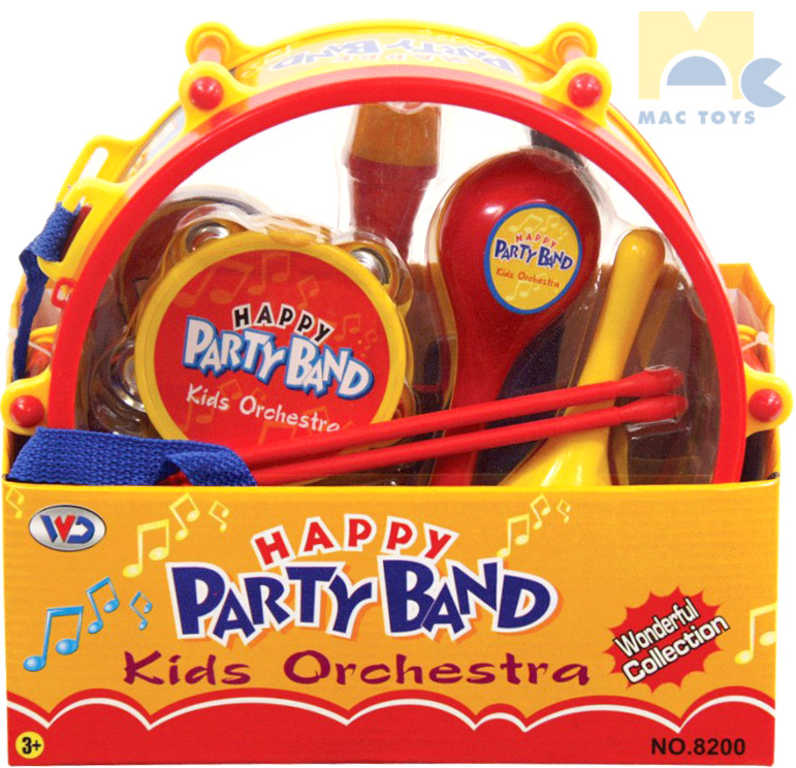 MAC TOYS Buben párty set dětský orchestr s mini hudebními nástroji plast