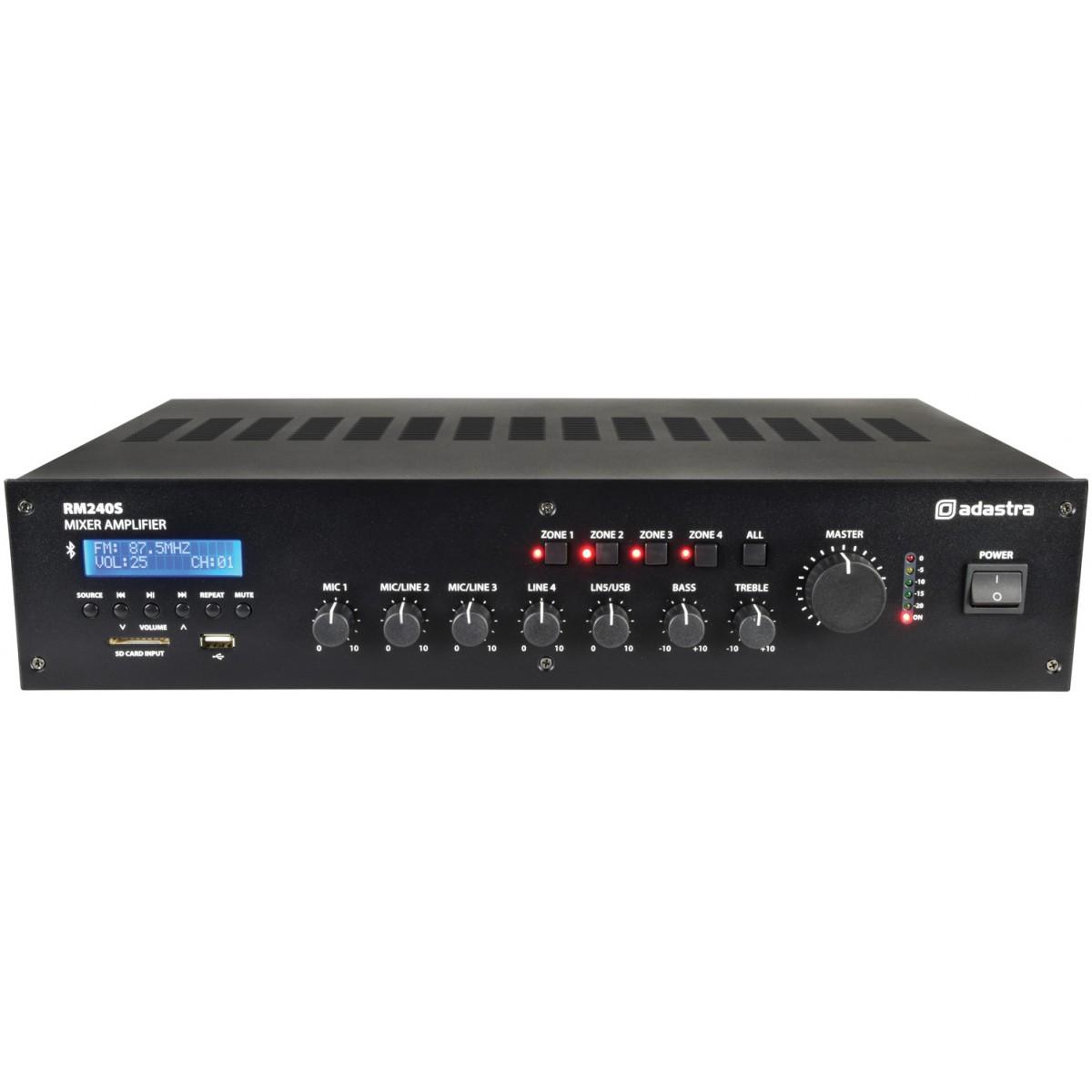 Adastra RM240S, mixážní 100V 5-kanálový zesilovač, 240W