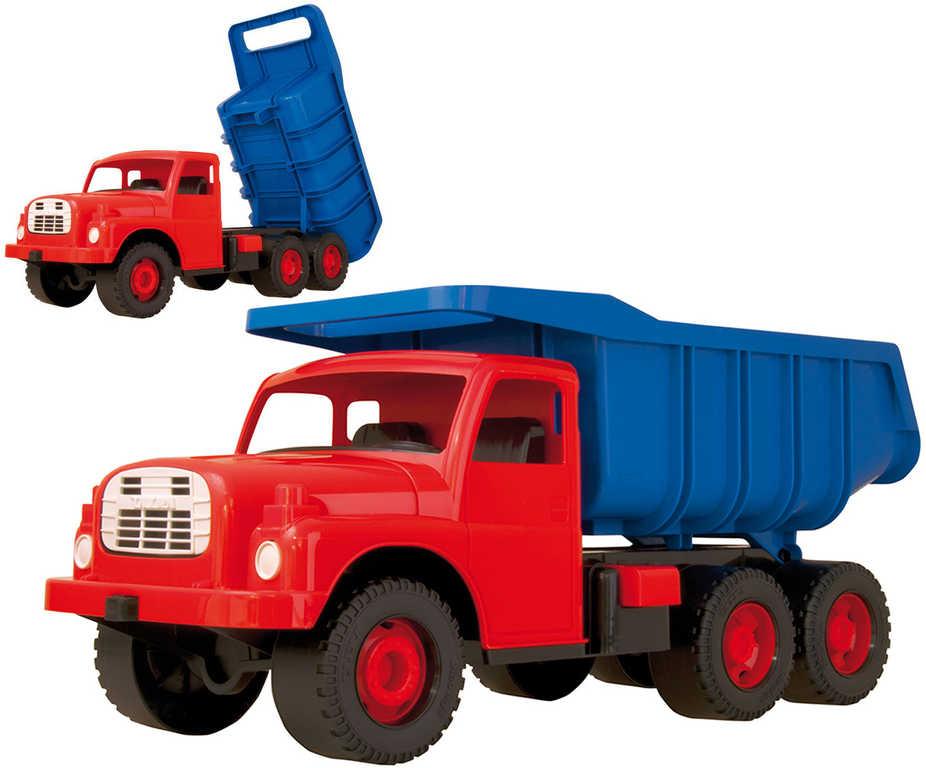 Tatra T148 klasické nákladní auto na písek 73cm modročervené sklápěcí korba