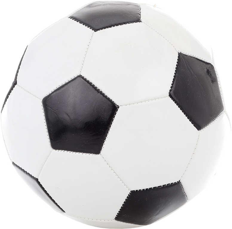Míč fotbalový vel.5 kopačák 20cm šitý balon na kopanou