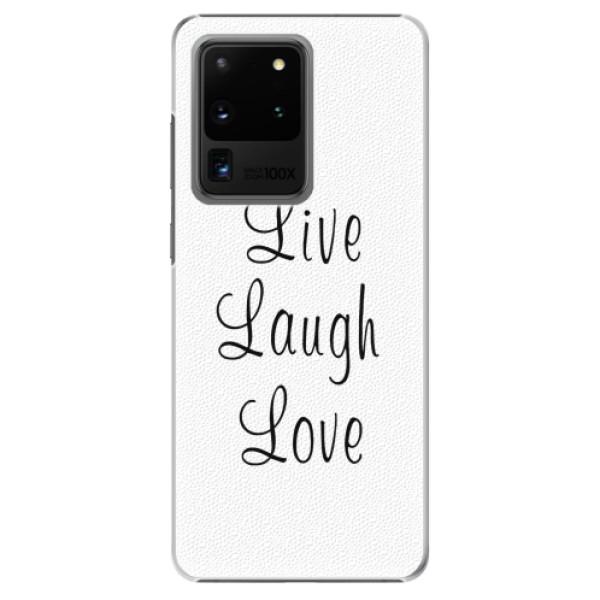 Plastové pouzdro iSaprio - Live Laugh Love - Samsung Galaxy S20 Ultra