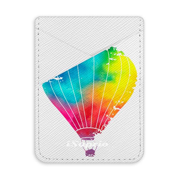 Pouzdro na kreditní karty iSaprio - Flying Baloon 01 - světlá nalepovací kapsa