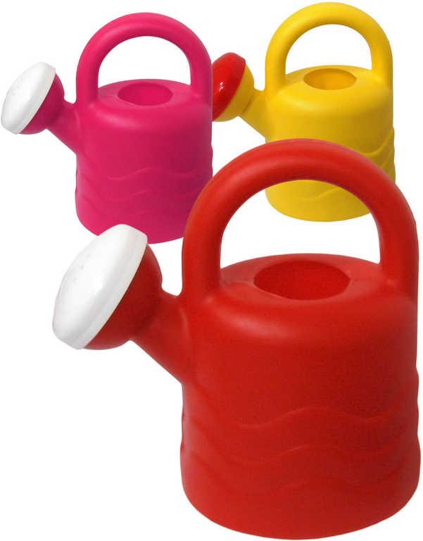 Konvička dětská plastová 16cm 0,6l s růžicí různé barvy