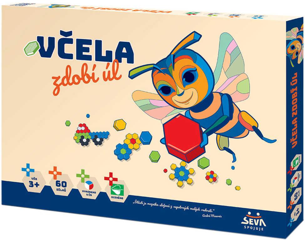 VISTA Mosaic Maxi 1 Včela zdobí úl Stavebnice mozaiková 60 dílků plast