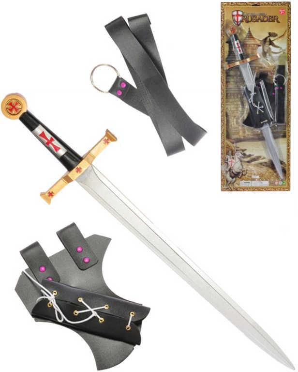 Rytířská sada meč 63 cm s pouzdrem a opaskem na kartě plast