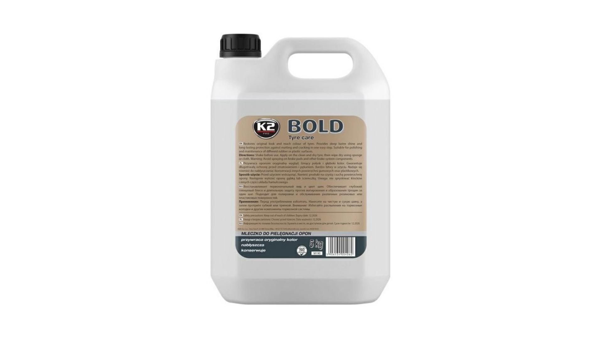 K2 BOLD 5l - prostředek na ošetření pneu