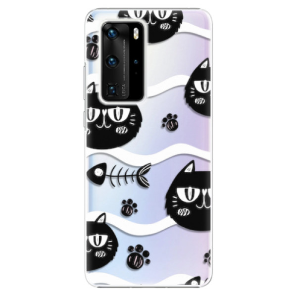 Plastové pouzdro iSaprio - Cat pattern 04 - Huawei P40 Pro
