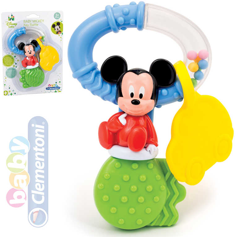 CLEMENTONI Chrastítko Disney Mickey klíče baby kousátko plast