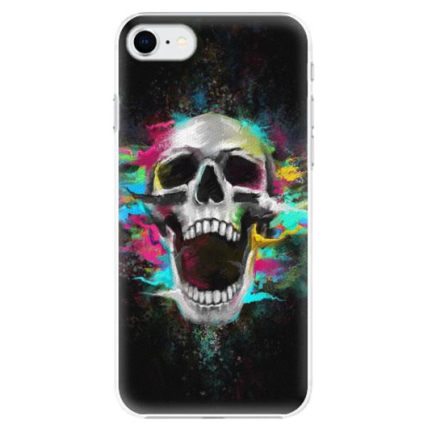 Plastové pouzdro iSaprio - Skull in Colors - iPhone SE 2020