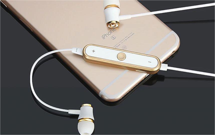 Mini bezdrátová sluchátka - Bílo-zlatá