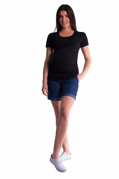 Těhotenské kraťasy s elastickým pásem - tm.
