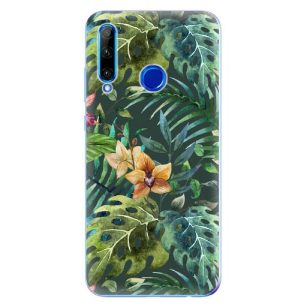 Odolné silikonové pouzdro iSaprio - Tropical Green 02 - Huawei Honor 20 Lite
