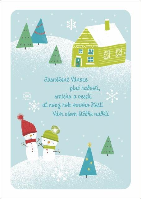 ALBI Hrací přání - Sněhuláci