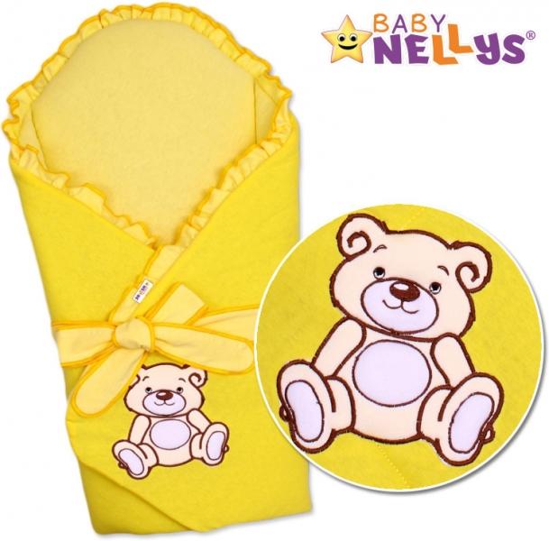 Zavinovačka s výztuží Teddy Bear - jersey - krémově/žlutá