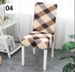 Elastický potah na židli - hnědý