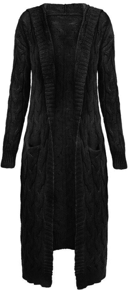 Černý dámský svetr s kapucí (111ART) - Černá/ONE SIZE