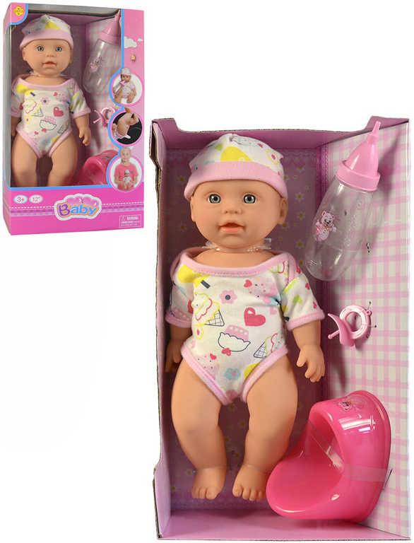 Defa panenka čůrací miminko 32cm set s nočníkem a doplňky