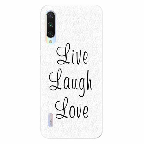 Silikonové pouzdro iSaprio - Live Laugh Love - Xiaomi Mi A3