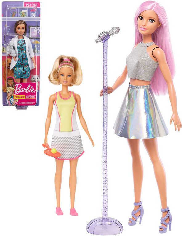 MATTEL BRB BARBIE První povolání set panenka s doplňkem plast 10 druhů