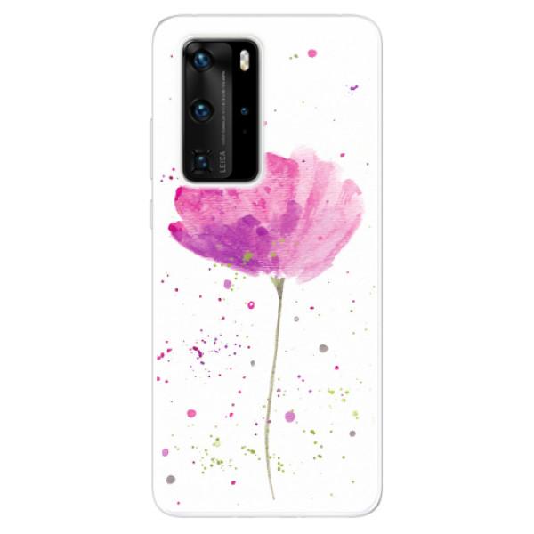 Odolné silikonové pouzdro iSaprio - Poppies - Huawei P40 Pro