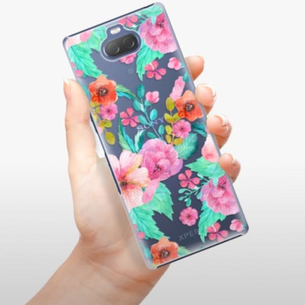 Plastové pouzdro iSaprio - Flower Pattern 01 - Sony Xperia 10 Plus