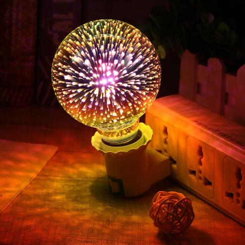 Žárovka - ohňostroj