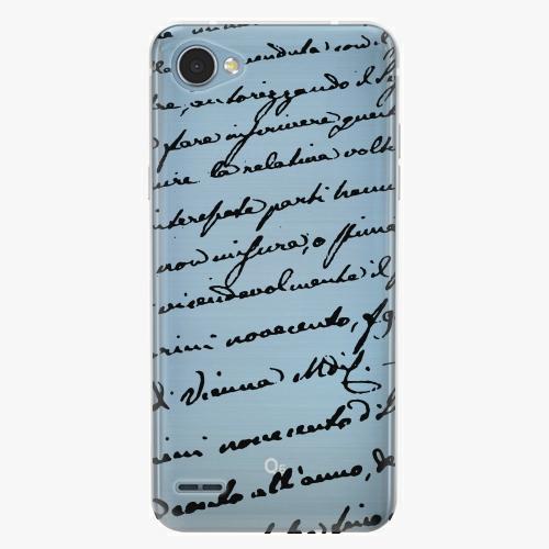 Plastový kryt iSaprio - Handwriting 01 - black - LG Q6