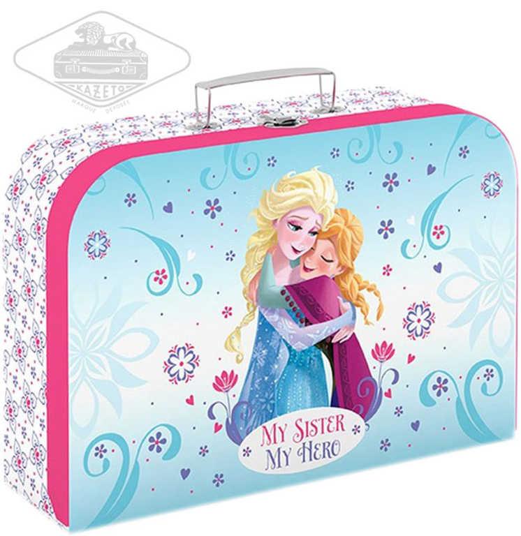 KAZETO Kufr dětský Frozen (Ledové Království) velký lepenkový kufřík