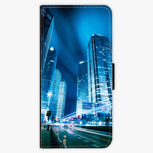 Flipové pouzdro iSaprio - Night City Blue - Samsung Galaxy S7 Edge