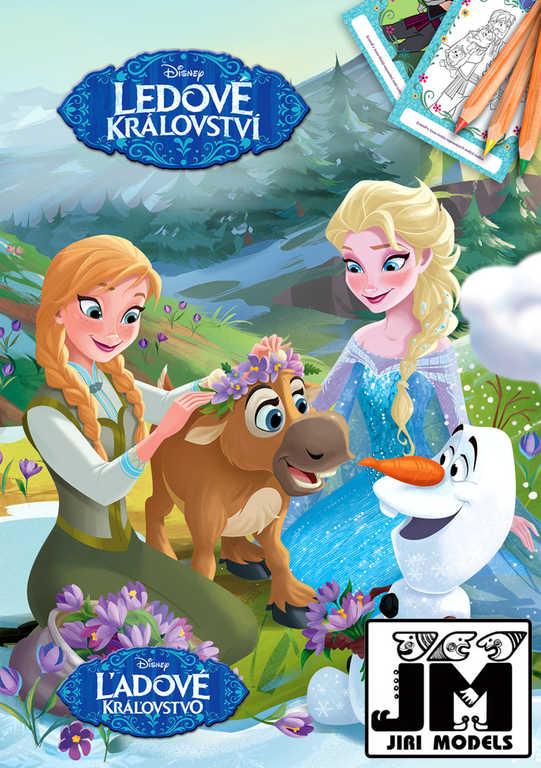JIRI MODELS Omalovánky A5+ Disney Frozen (Ledové Království)