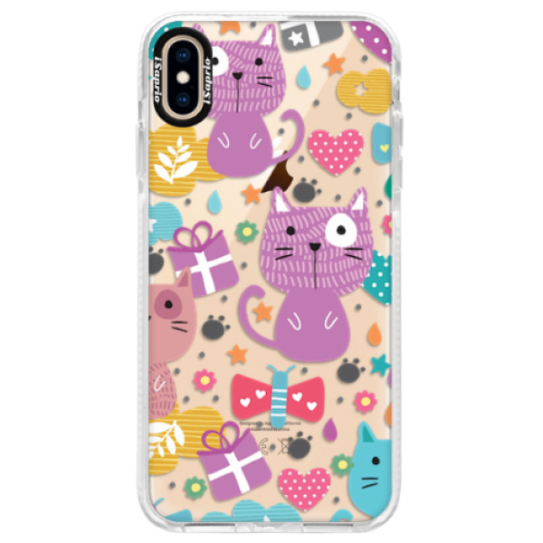 Silikonové pouzdro Bumper iSaprio - Cat pattern 01 - iPhone XS Max