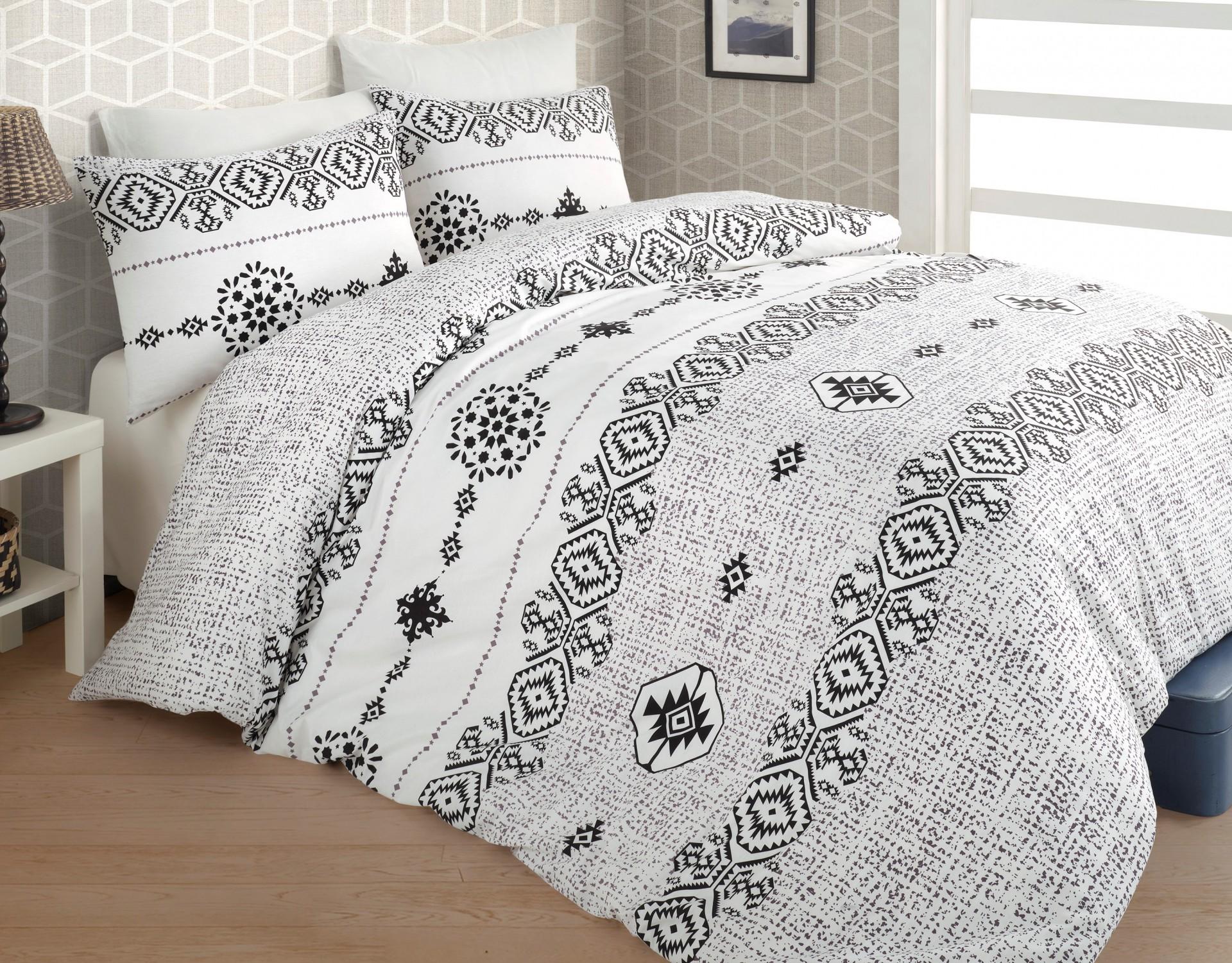 Povlečení francouzské bavlna 240x220,70x90 Melisa grey, Výběr zapínání: