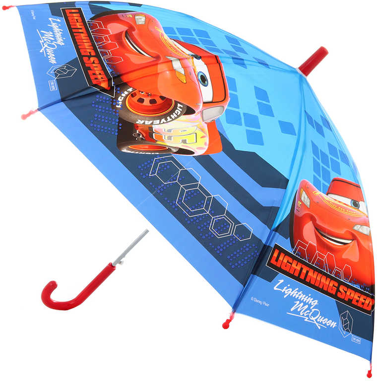 Deštník dětský Cars (Auta) 66x80cm vystřelovací v sáčku
