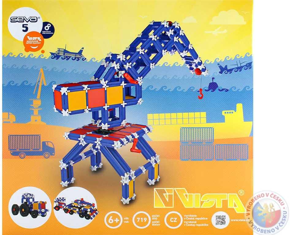 VISTA SEVA 5 Technik plastová STAVEBNICE 719 dílků v krabici