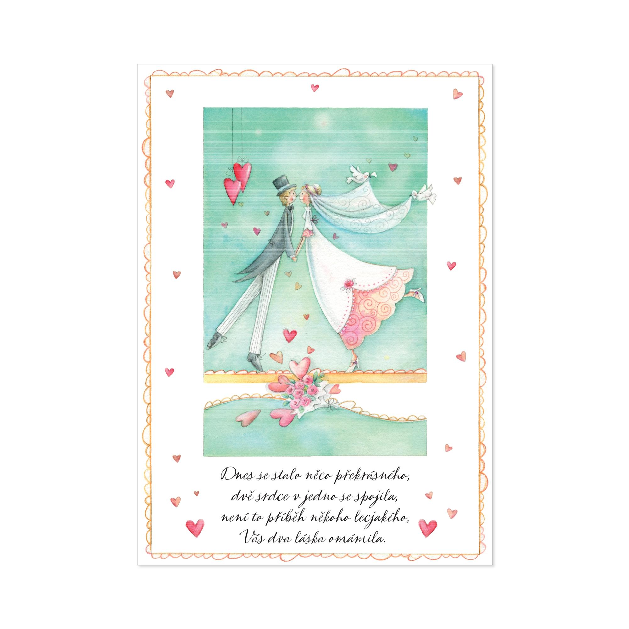 Hrací přání - Svatební polibek