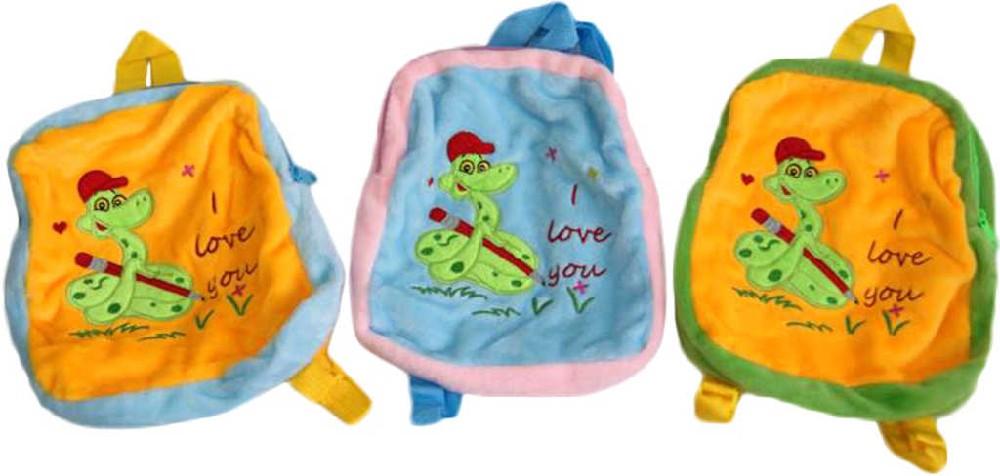 PLYŠ Dětský batůžek s hadem I Love You 3 barvy *PLYŠOVÉ HRAČKY*