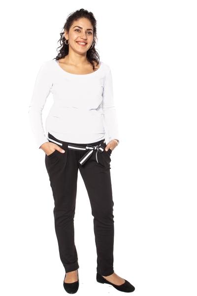 Těhotenské tepláky,kalhoty MONY - černé - S - S