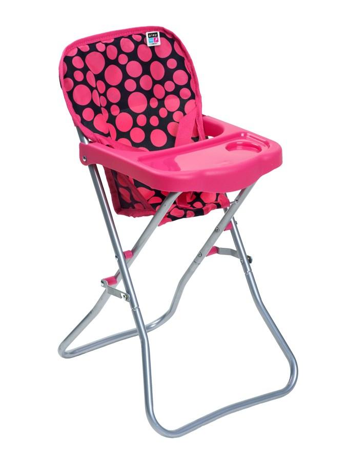 Jídelní židlička pro panenky PlayTo Dorotka - růžová