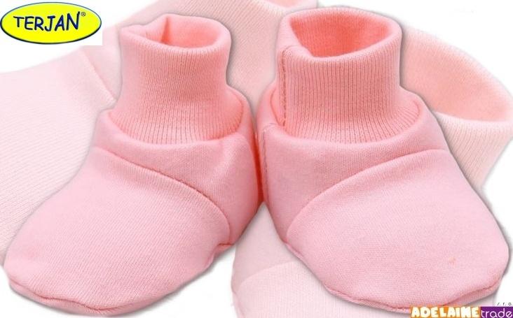 TERJAN Botičky/ponožtičky BAVLNA - sv. růžové