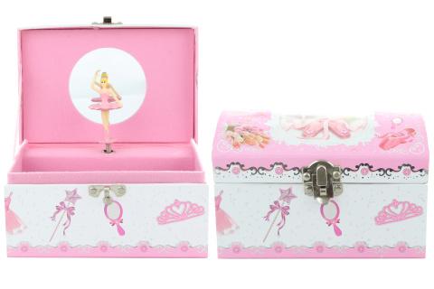 Hrací skříňka šperkovnice s baletkou
