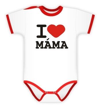Baby Dejna Body kr. rukáv I love Máma