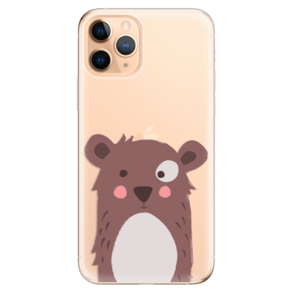 Odolné silikonové pouzdro iSaprio - Brown Bear - iPhone 11 Pro