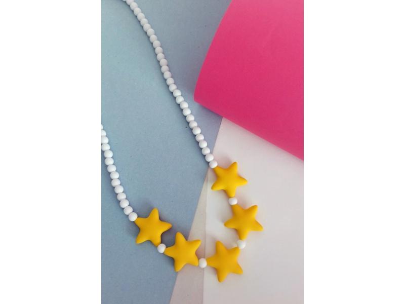 MIMIKOI - Kojící korále hvězdíčky na šňůrce