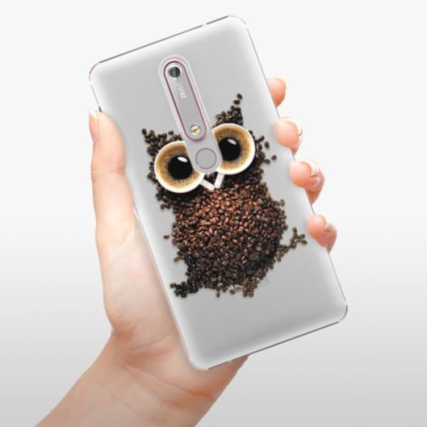 Plastové pouzdro iSaprio - Owl And Coffee - Nokia 6.1