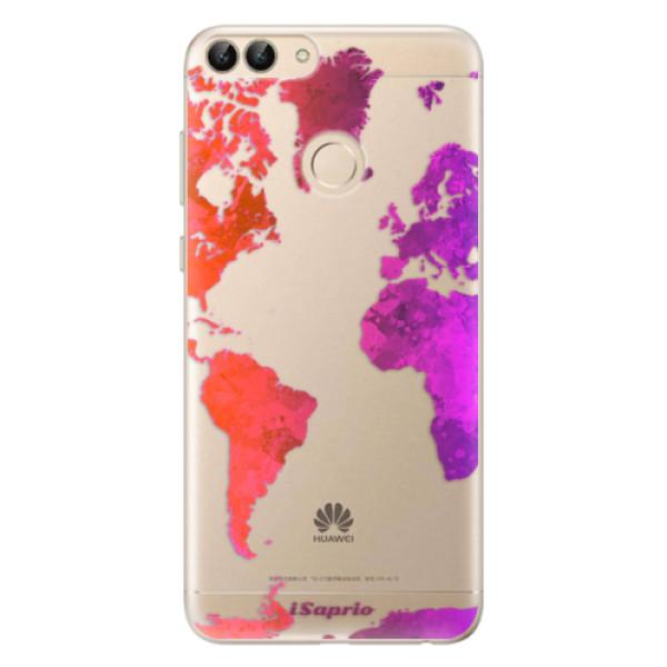 Odolné silikonové pouzdro iSaprio - Warm Map - Huawei P Smart
